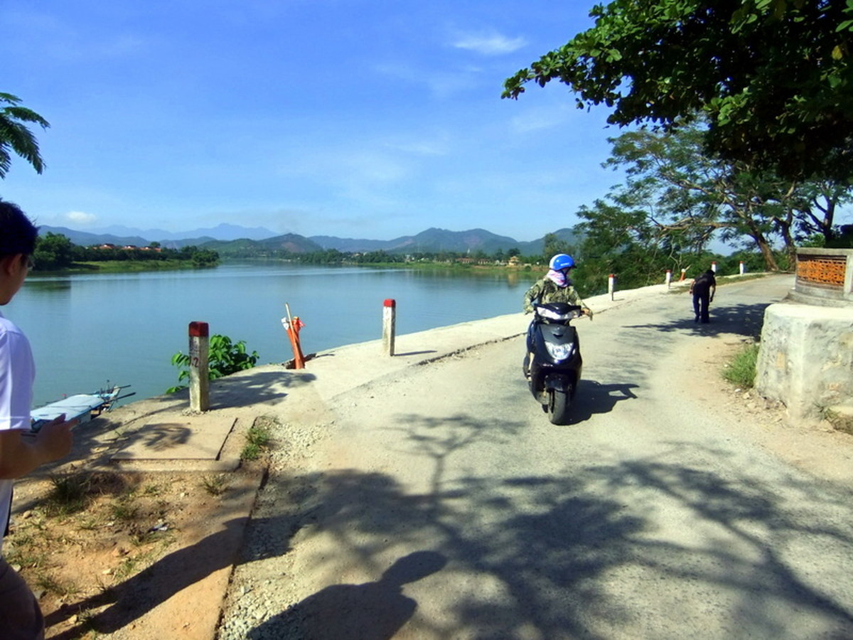 My travel to Vietnam: Perfume River and the surrounding area, taken from Thien Mu Pagoda