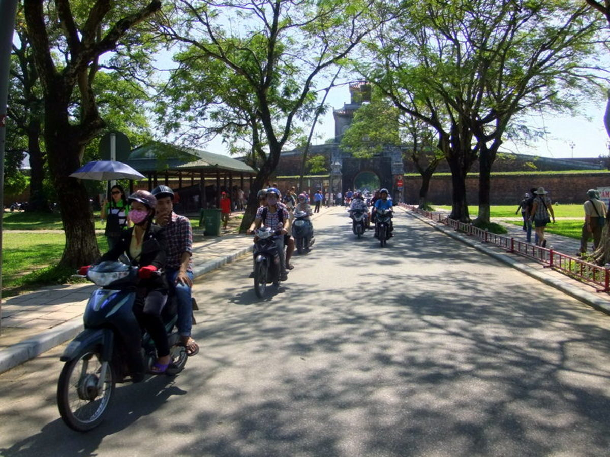 My travel to Vietnam: Heavy vehicles are not allowed within the Imperial Citadel's compound in Hue