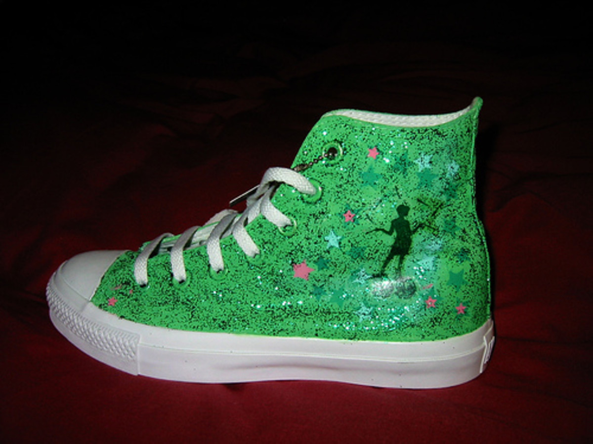 You can also draw on your Converse with a Sharpie or permanent paint pen.