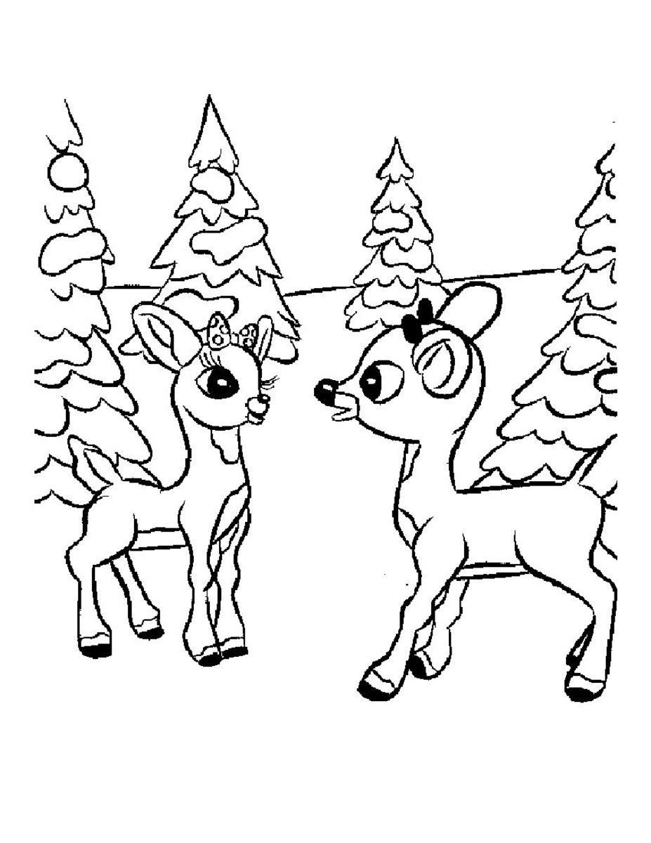 olive the other reindeer coloring pages printable