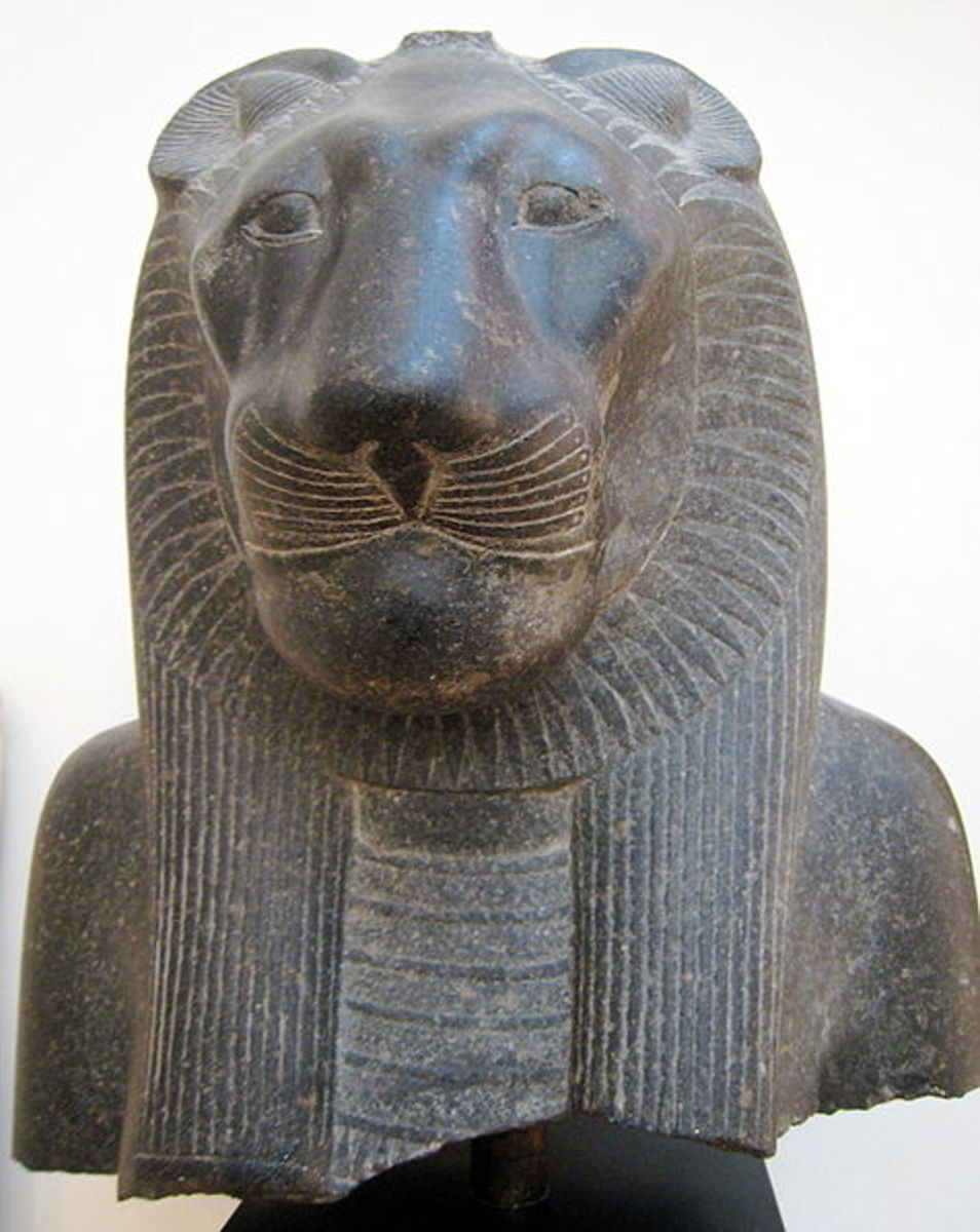 Statue of the Egyptian goddess Sekhmet.