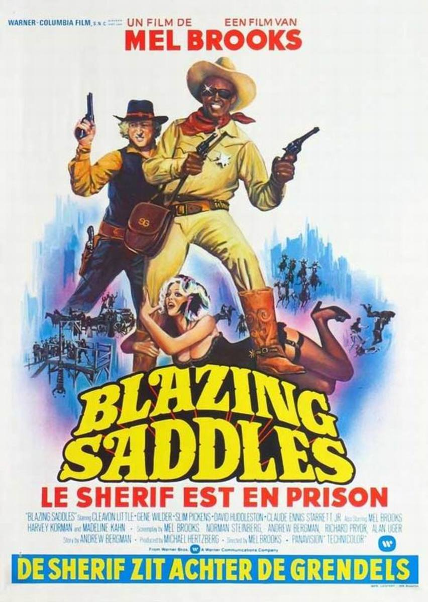 Blazing Saddles (1974) Belgian poster