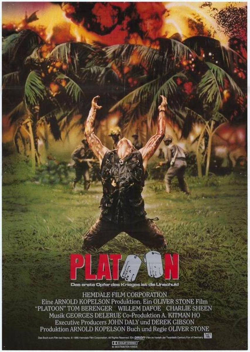 Platoon (1986) German poster