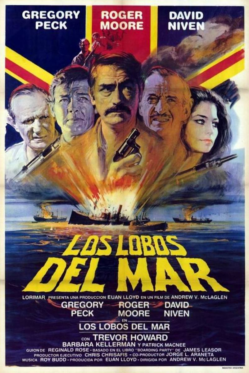 The Sea Wolves (1980) Spanish poster