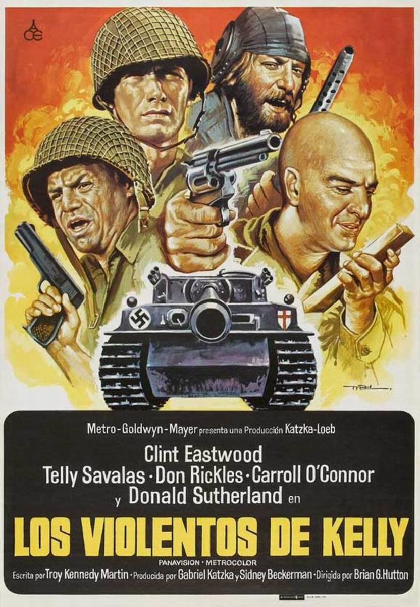 Kelly's Heroes (1970) Spanish poster
