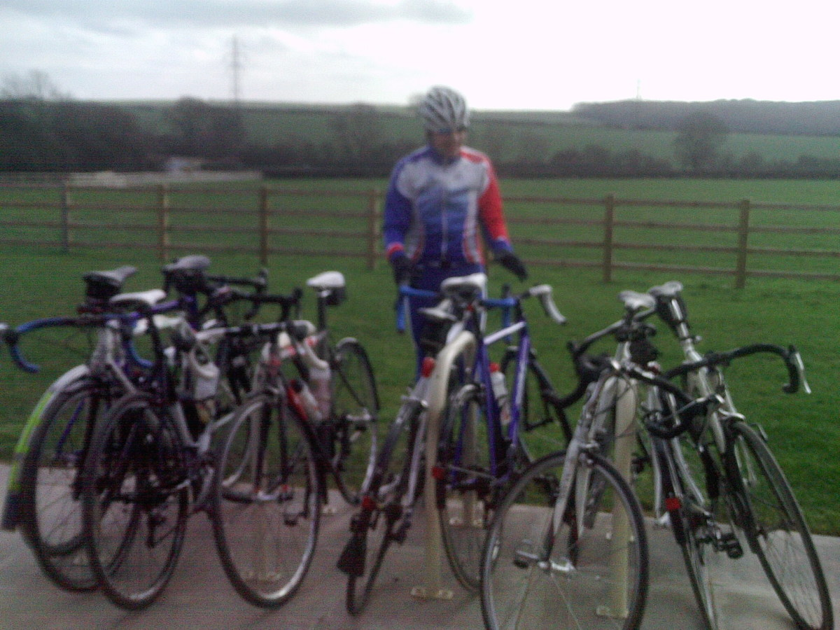 Plenty of bike racking at Newfield Dairy Cafe