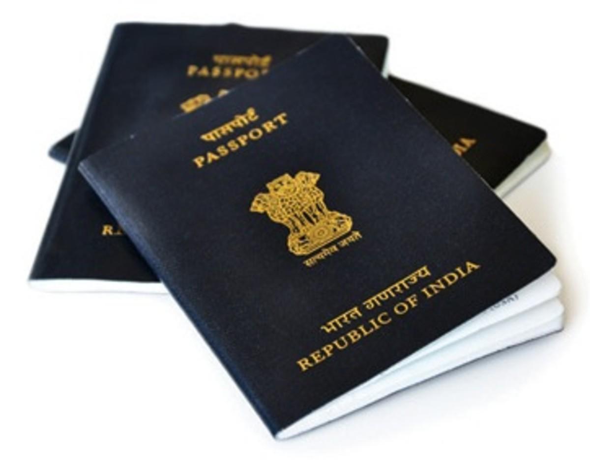 Indian Passport Front Look