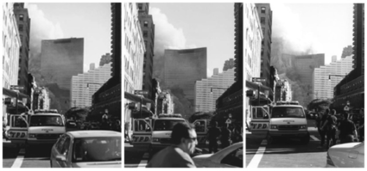 These three photos of WTC 7 show that it collapsing in a classic demolition fashion.
