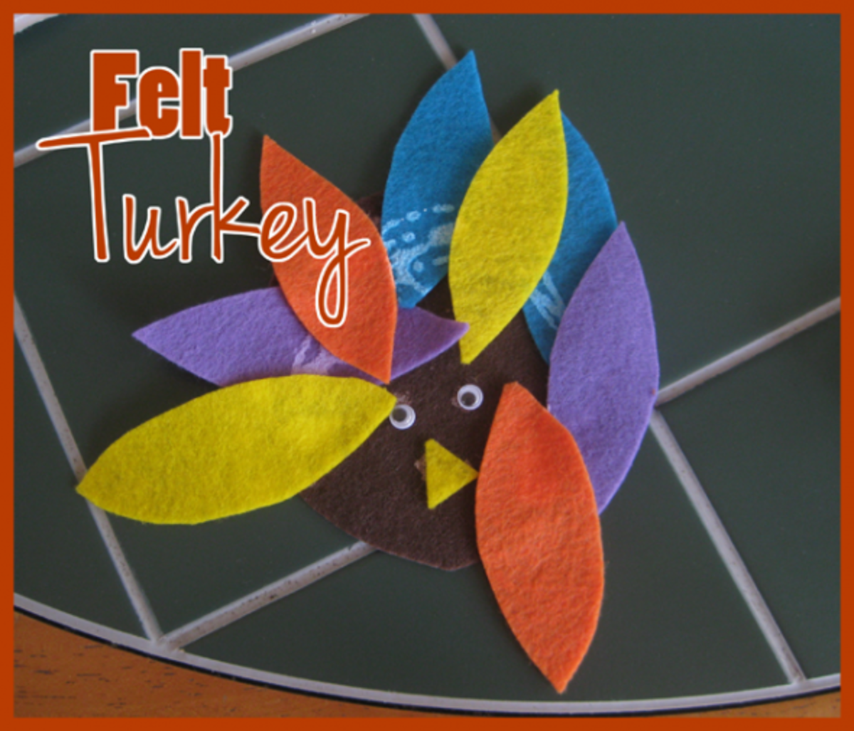 felt thanksgiving turkey craft