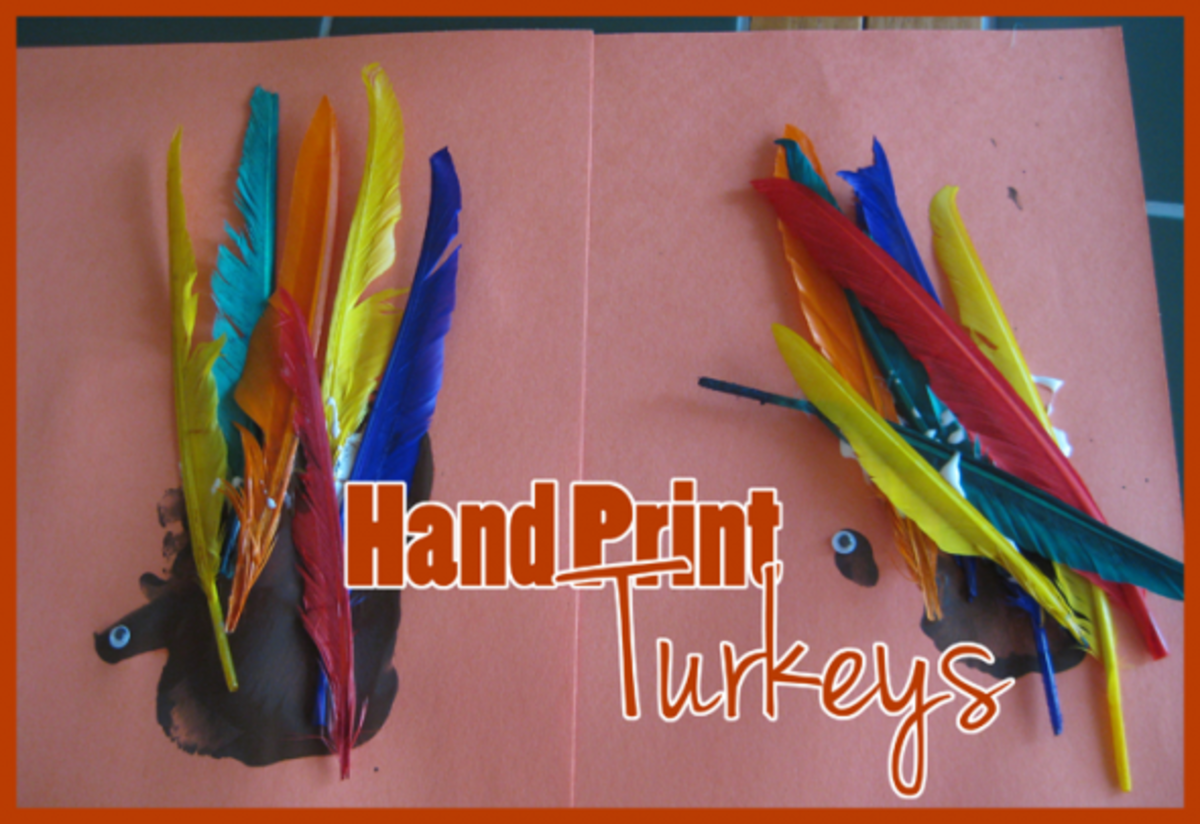 hand print thanksgiving turkey craft