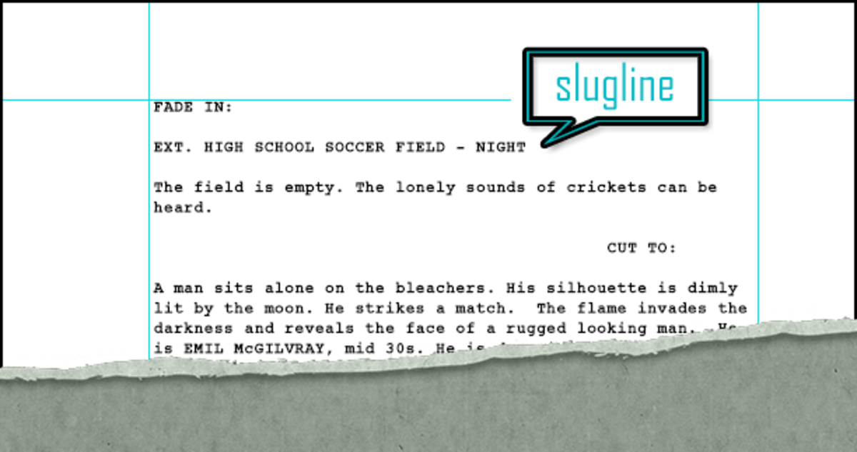 A Slugline from my spec screenplay.