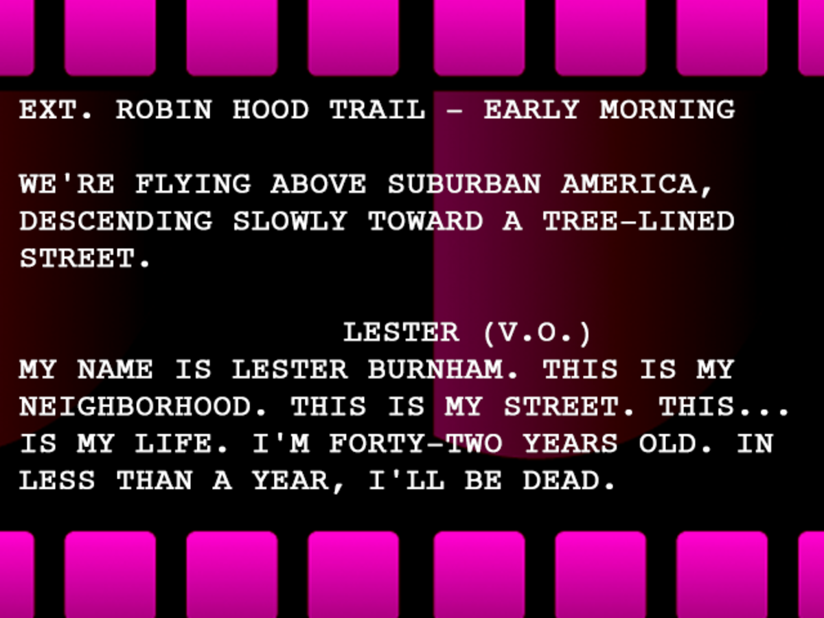 Lines from American Beauty (DreamWorks Pictures, 1992)