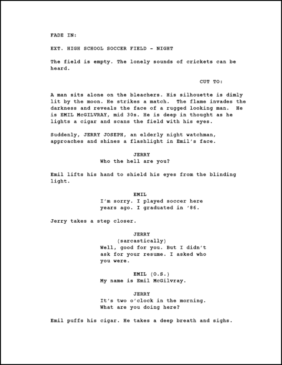 format a new screenplay or spec script updated for 2014 hubpages