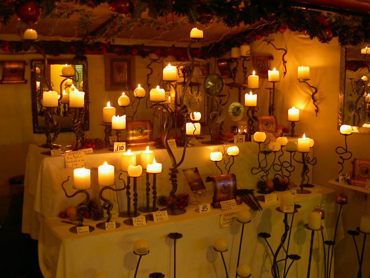 lovely to look at but these lit candles pose a serious fire risk.