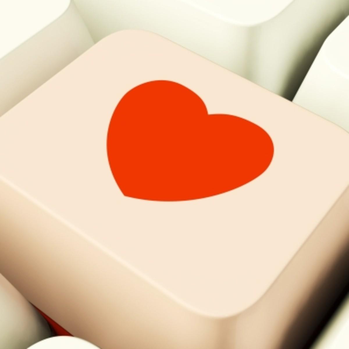 Heart on a Computer Key