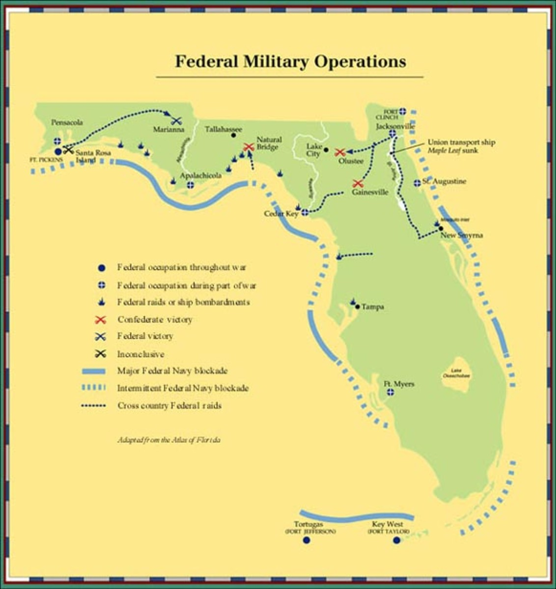Union Army In Florida