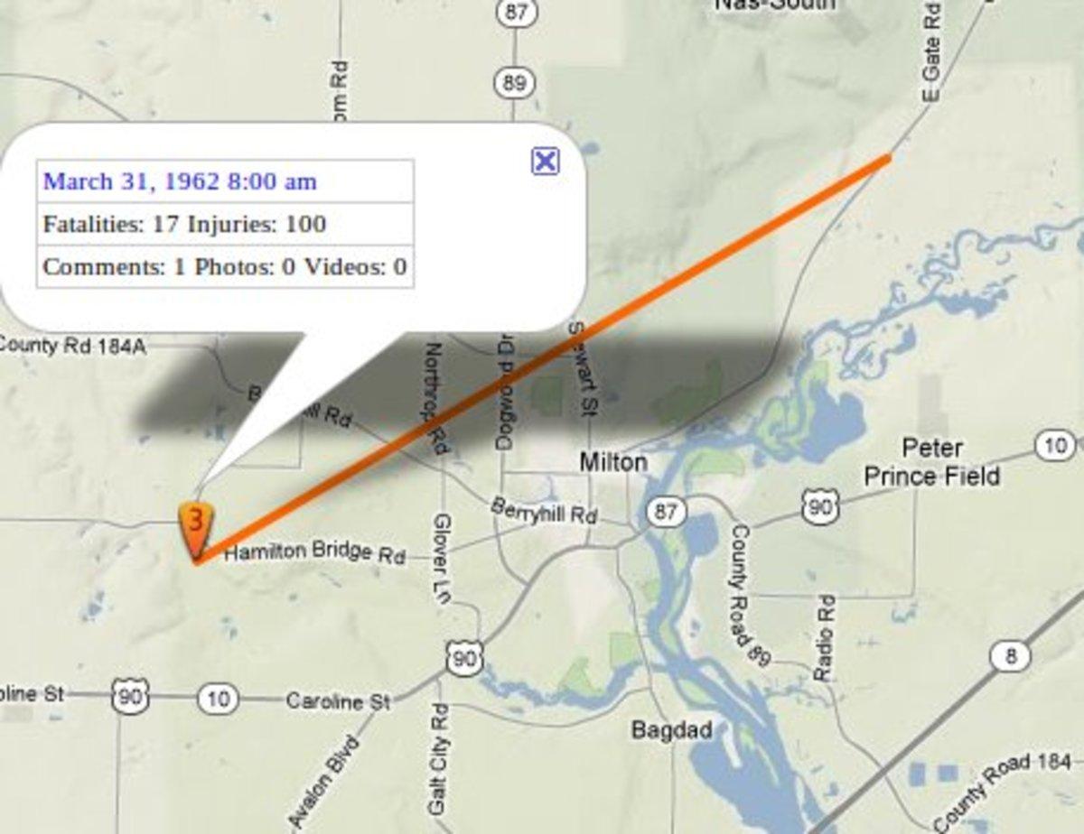 Tornado In Milton Florida 32570
