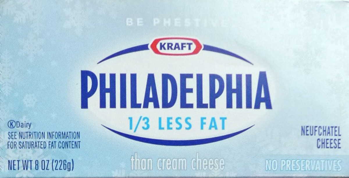 If you're watching fat calories, try using a reduced fat cream cheese. It tastes just as yummy.