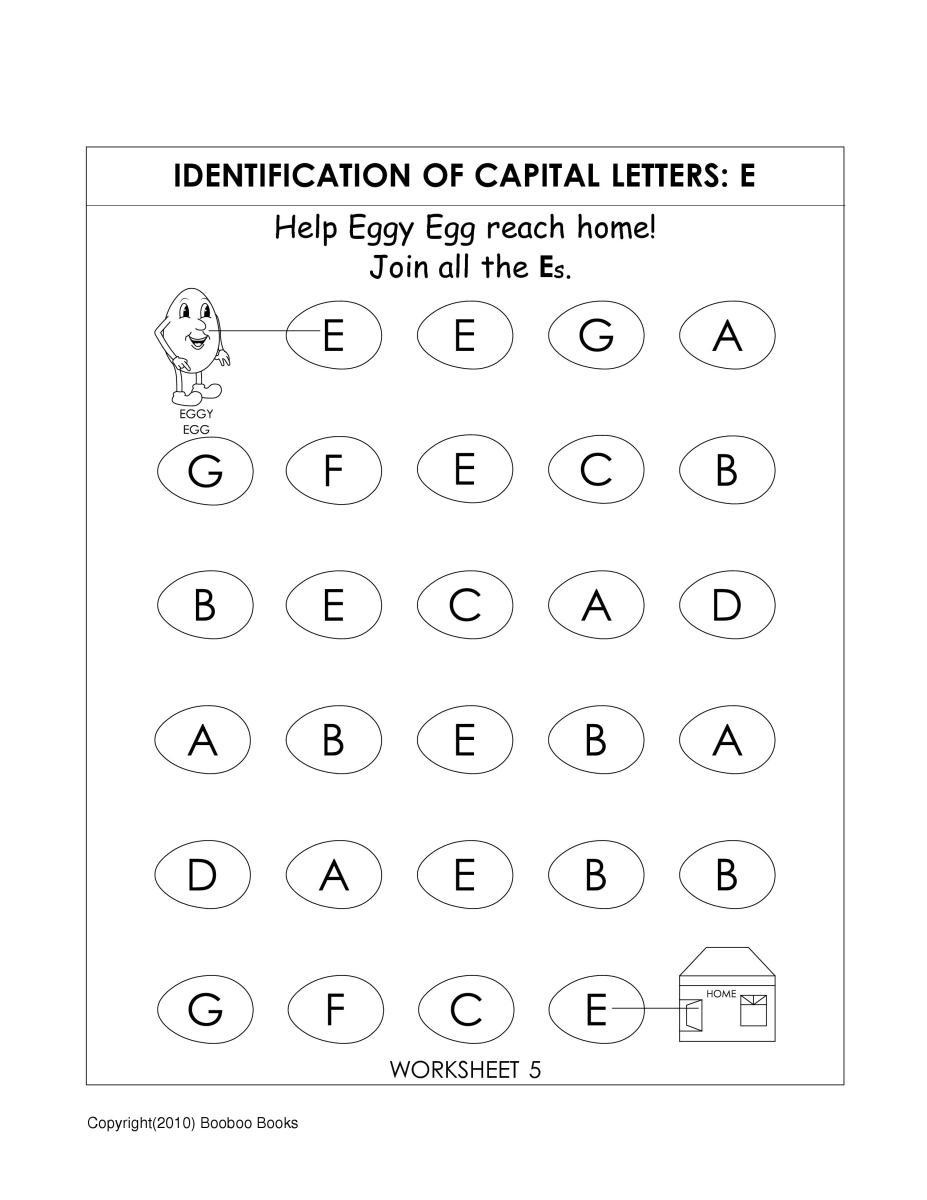 Letter E Worksheets Pre K - Intrepidpath