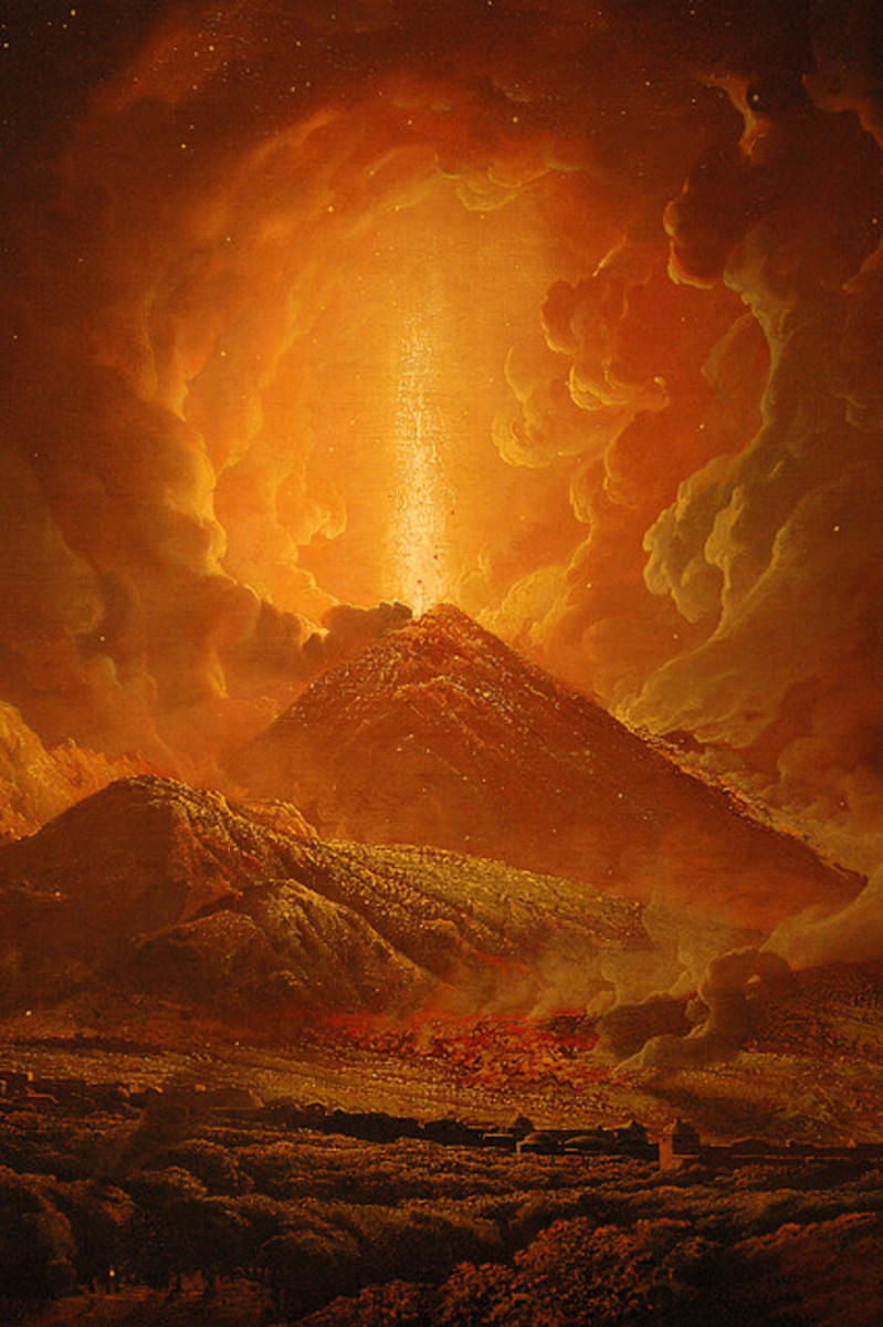 Joseph Wright of Derby - Vesuvius from Portici - Detail