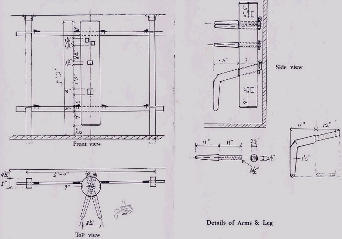 Example of free wooden dummy plans available.