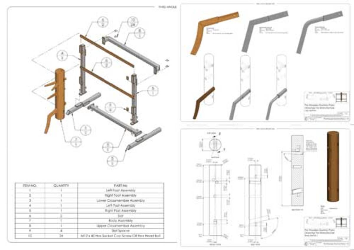 kung fu wooden dummy plans