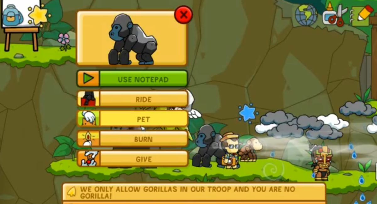 Scribblenauts Unlimited walkthrough: Anaphora Falls and Ruins of Ellipsis