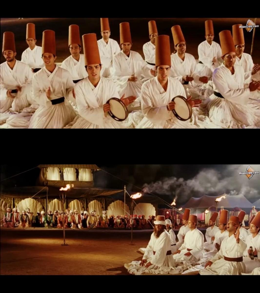 Aishwayra Rai & Hrithik Roshan in Khwaja mere kwaja ... : An exceptionally picturesque qawwali in full royal splendour.