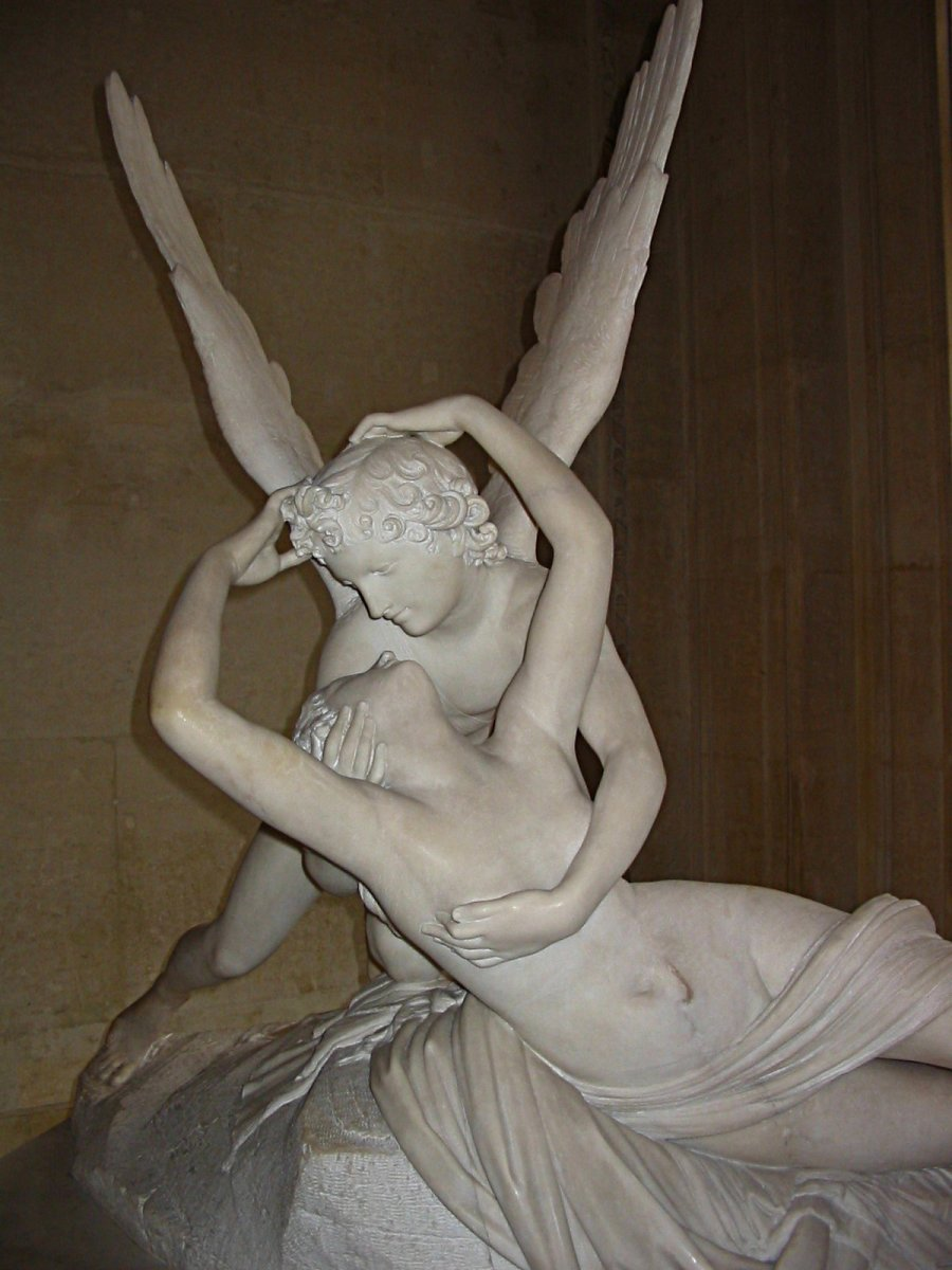 Antonio Canova's sculpture  Psyche Revived by Cupid's Kiss