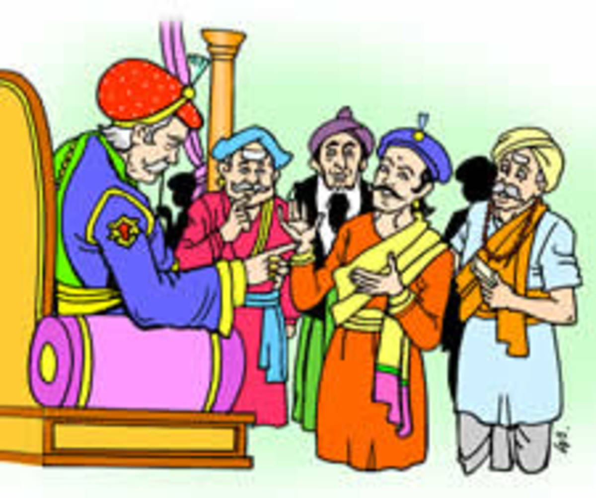 Sparkling wit - Story of Birbal and of a Sai student who employed Birbal's wit