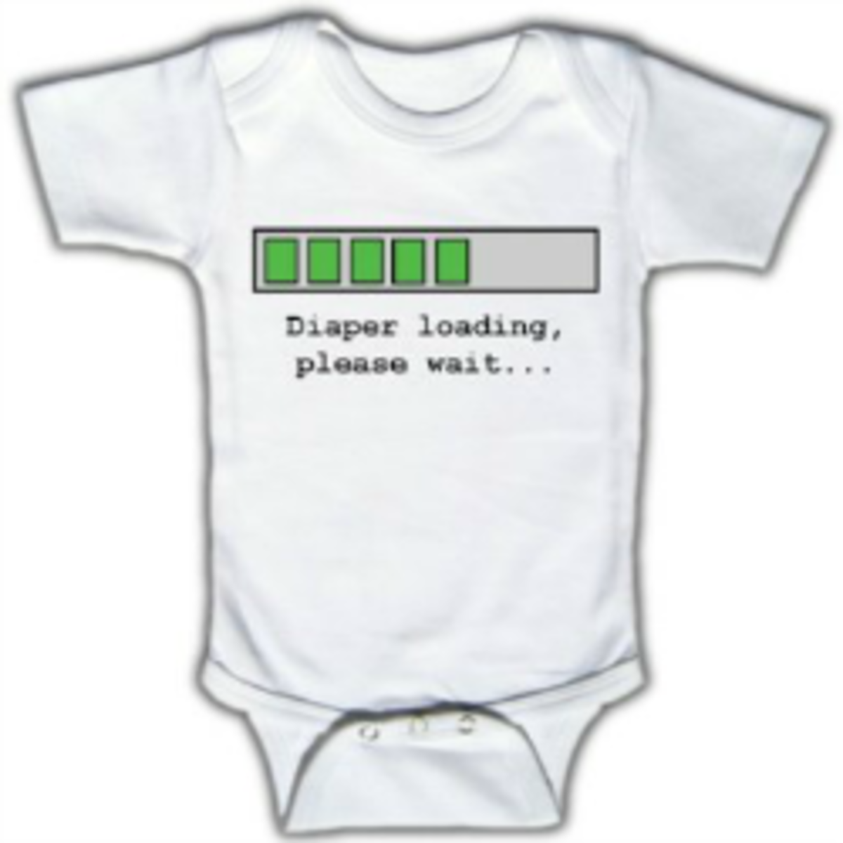 Diaper loading, please wait - Funny Baby One-piece - Available at Amazon