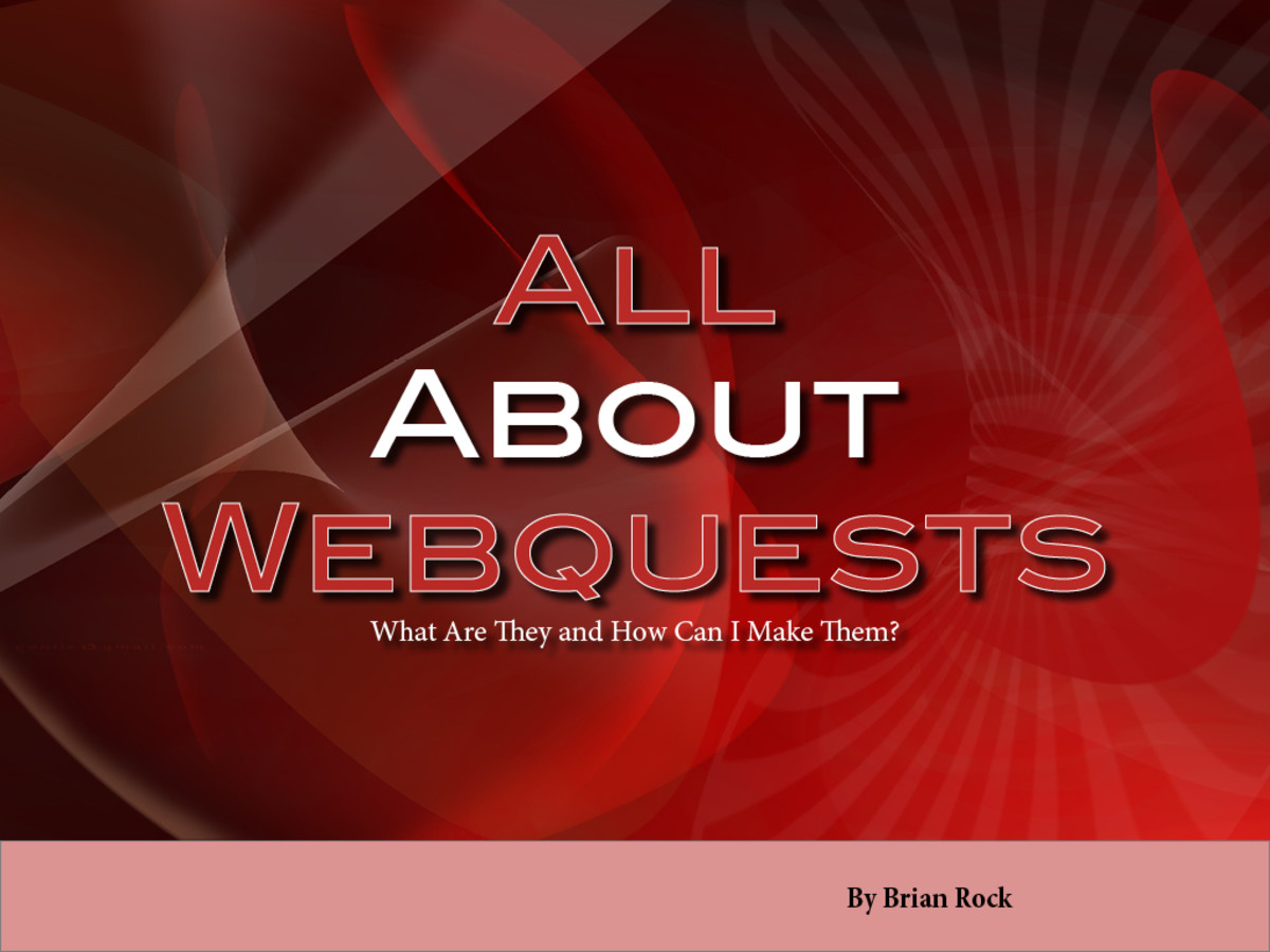 A slideshare presentation about webquests and about how to build them.