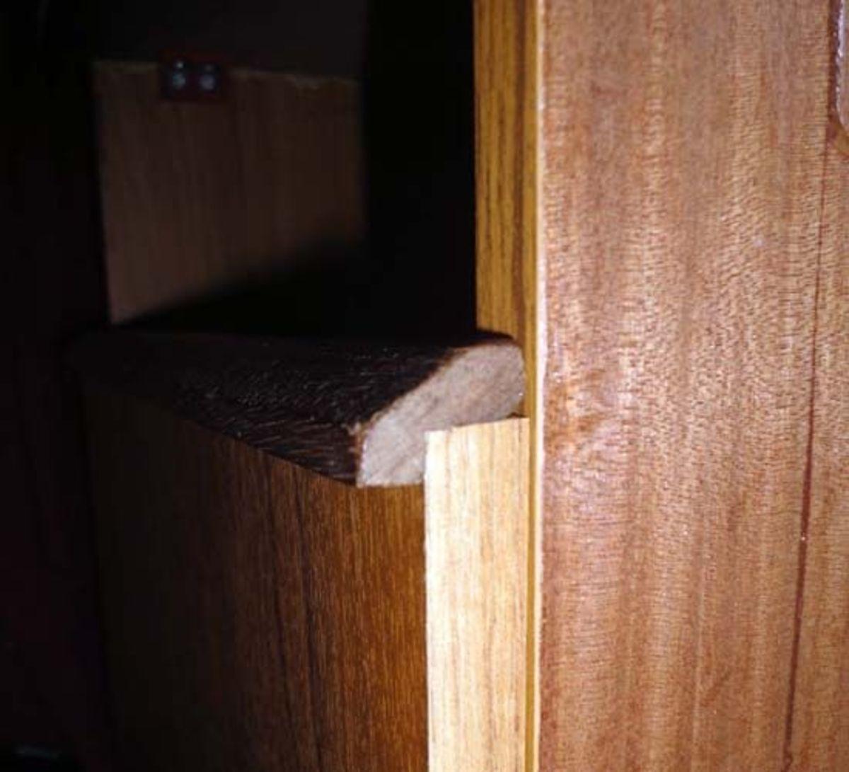 Wooden Handle on top of door