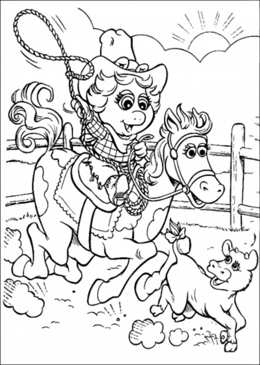 Horse and Rider Printable Coloring Pages   HubPages