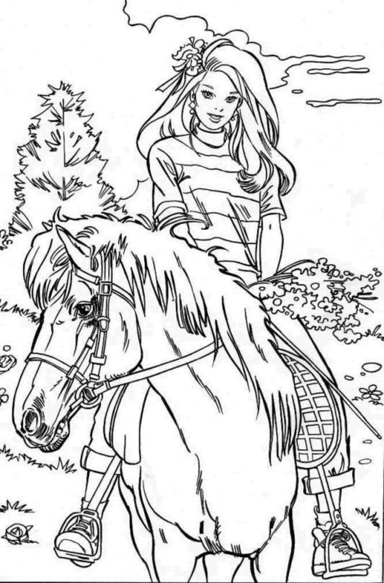 horseriderprintablecoloringpages