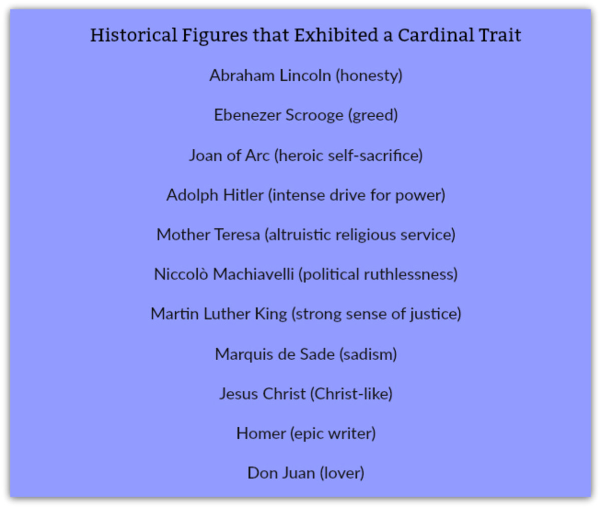 cardinal-traits-psychology