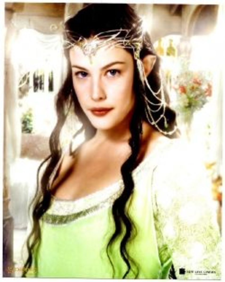 Liv Tyler as Arwen Undomeil from The Lord of the Ring; Return of the King
