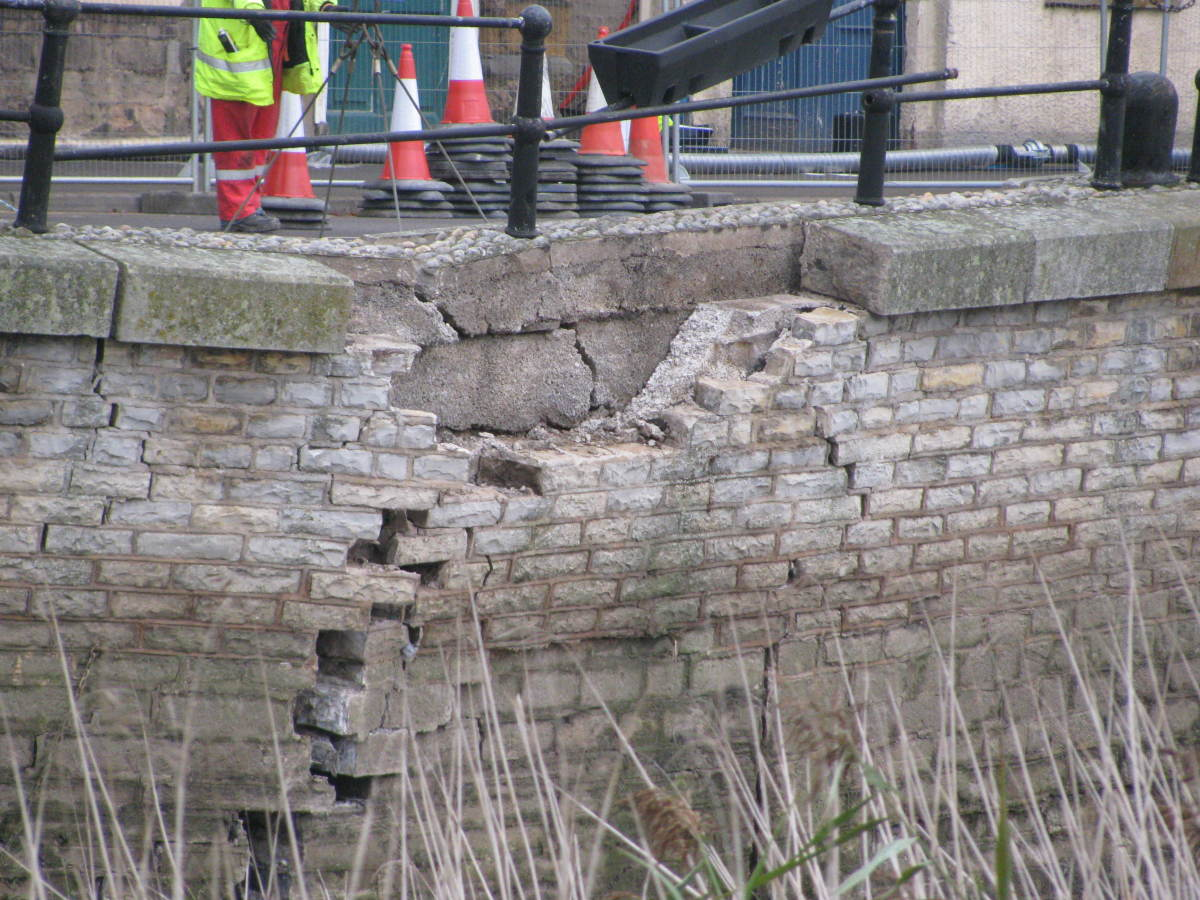 Large cavity; concrete back-filling done before dismantling could start