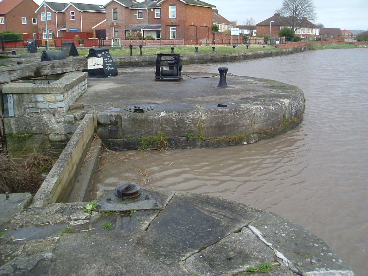 The River & Entrance to the Marina (locks now blocked)