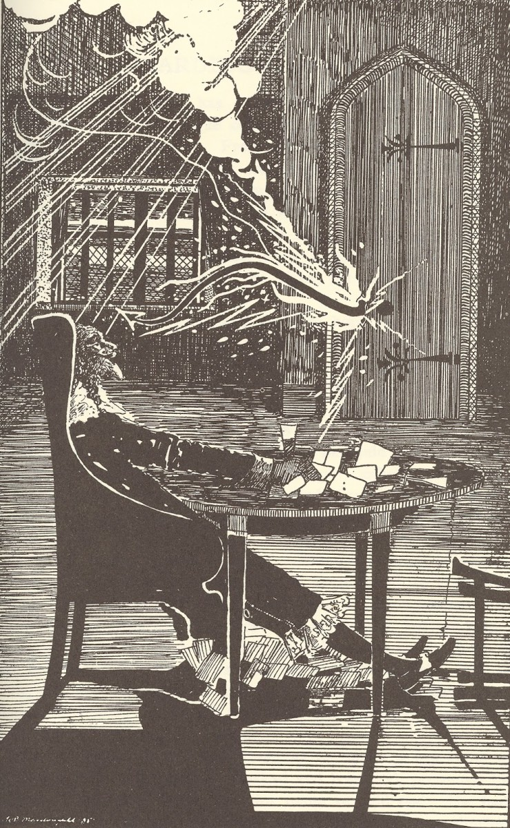 Illustration by William Brown Macdougal for Margaret Armour's (his wife) The Eerie Book.