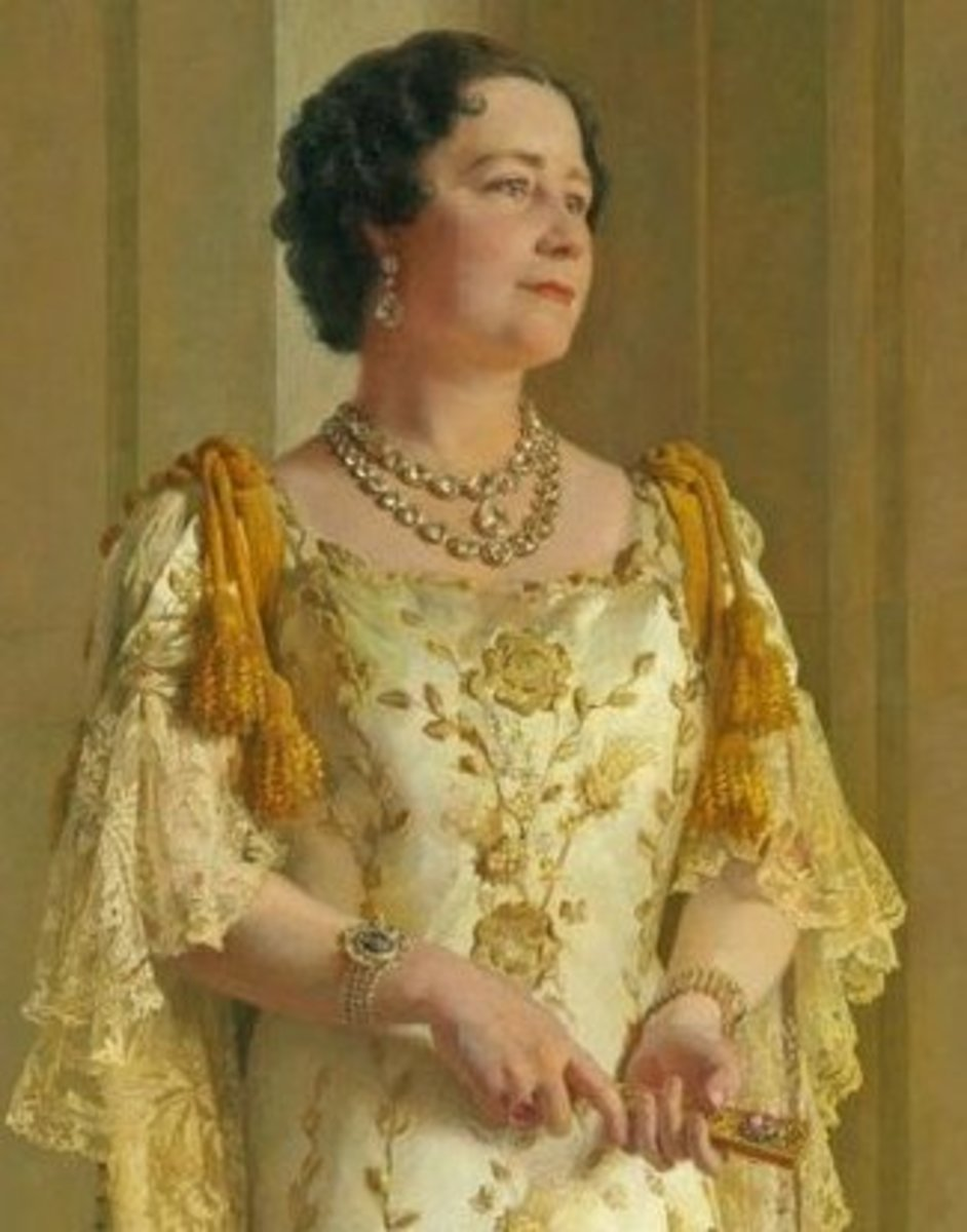 The Queen Mother painted around the time of WW2.  She was born at Glamis Castle.