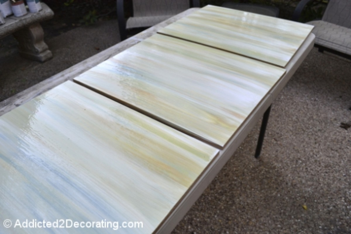 Step 5:  Slightly separate the MDF boards and allow them to dry completely.  Once dry, push the MDF boards back together for the final paint application.