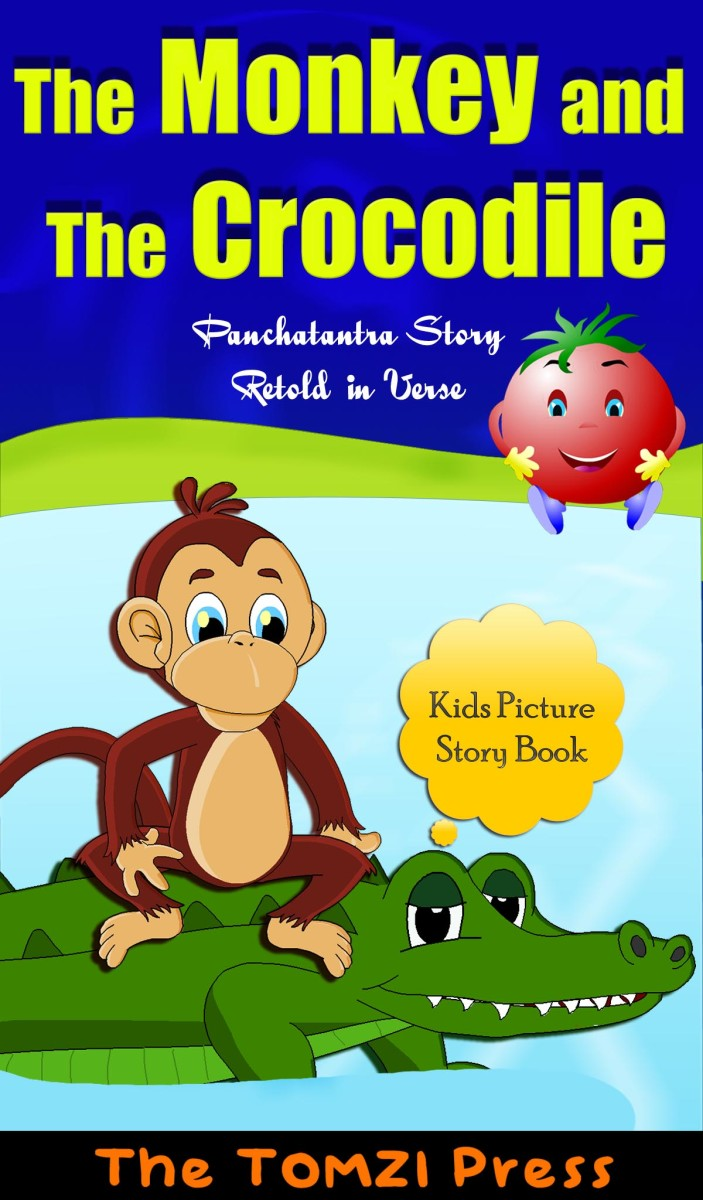 The monkey and the crocodile - Panchatantra stories retold - picture story for kids