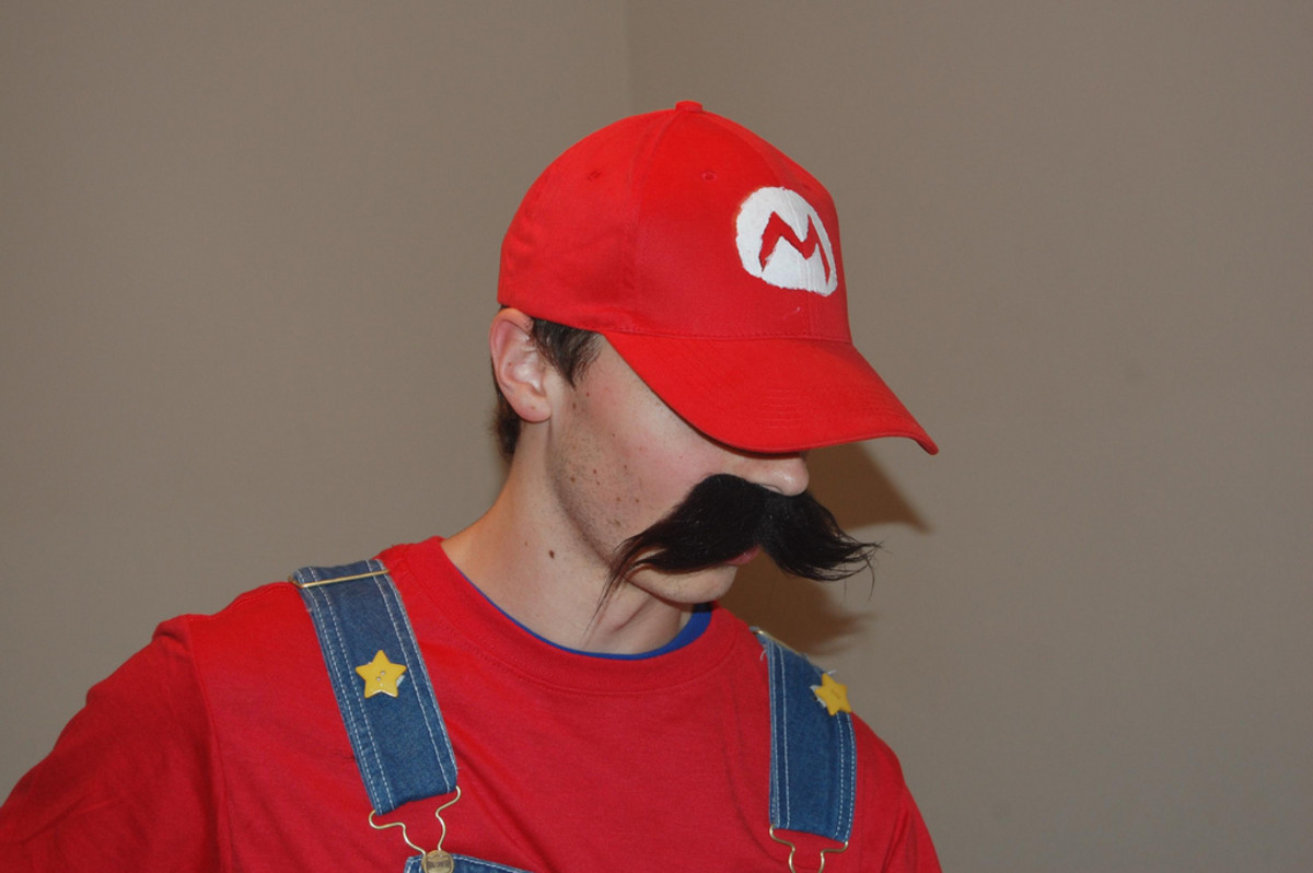 An example of a homemade Mario Hat.