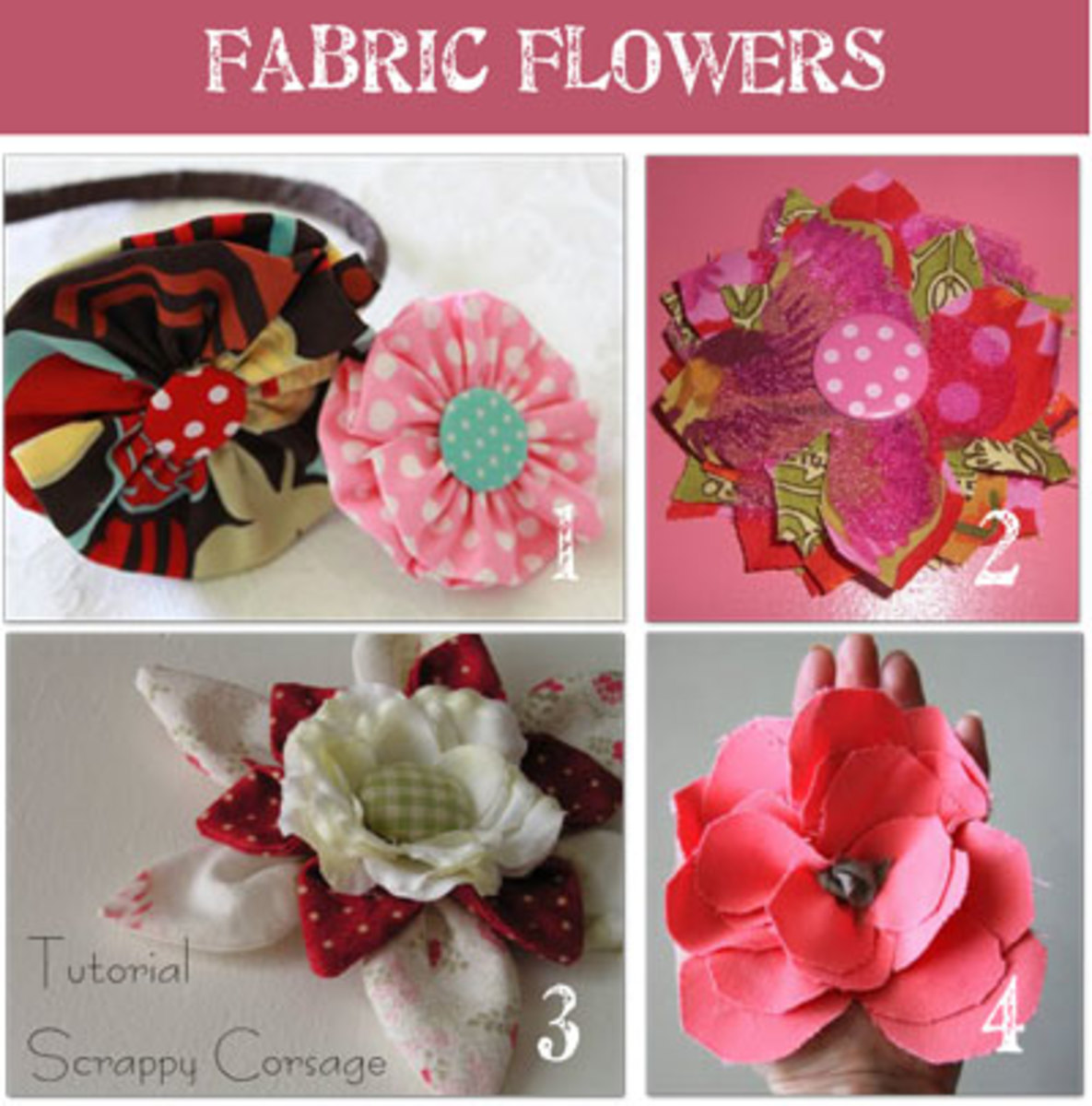 Fabric Flowers, Ribbon Roses & Net Orange Blossoms - DIY