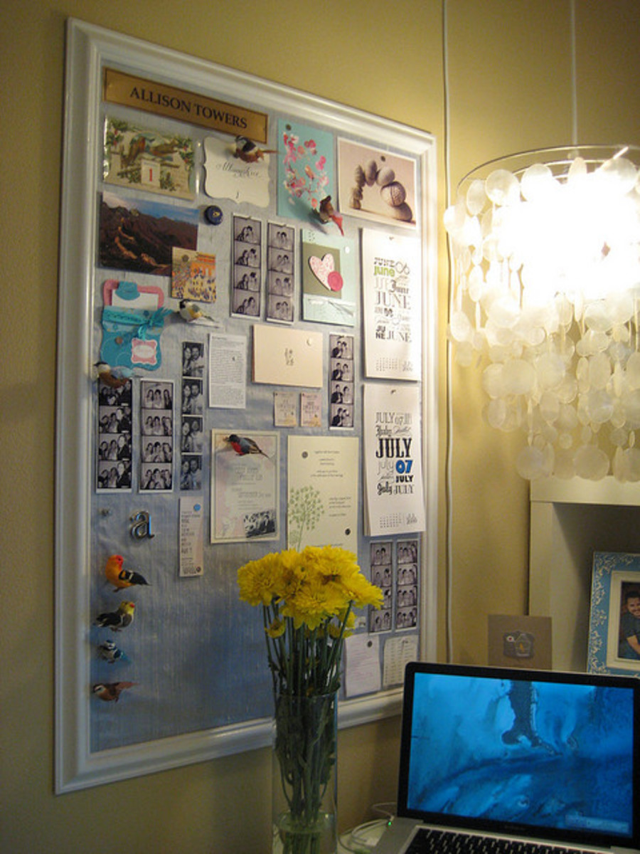 Giving your mood board some sense of order will help keep it from becoming overwhelming.