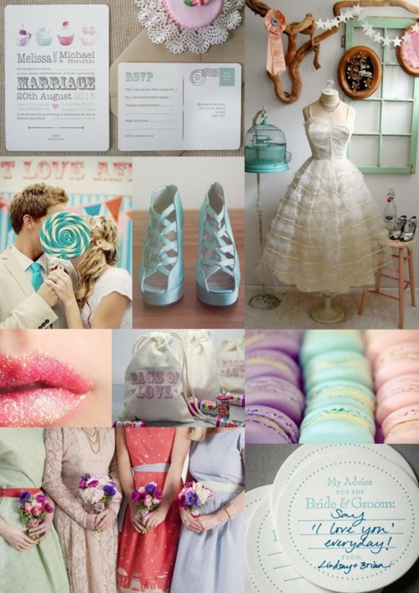 Example of a wedding inspiration mood board.