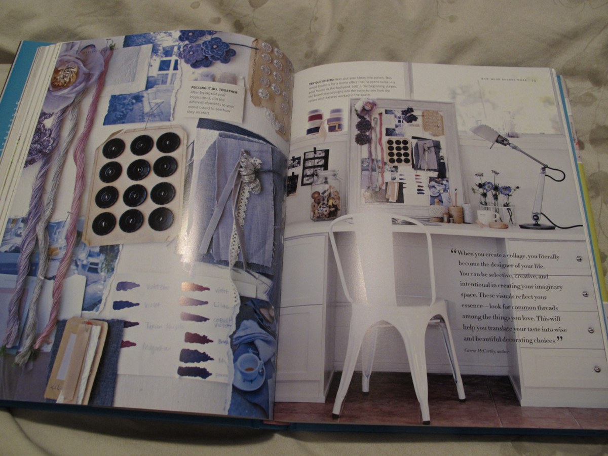 Beautiful example of a mood board over a workspace.