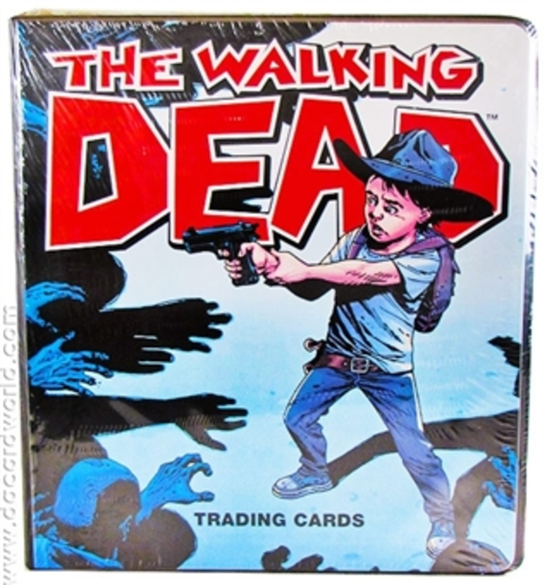Rare Walking Dead Comic Trading Cards Carl Grimes Binder