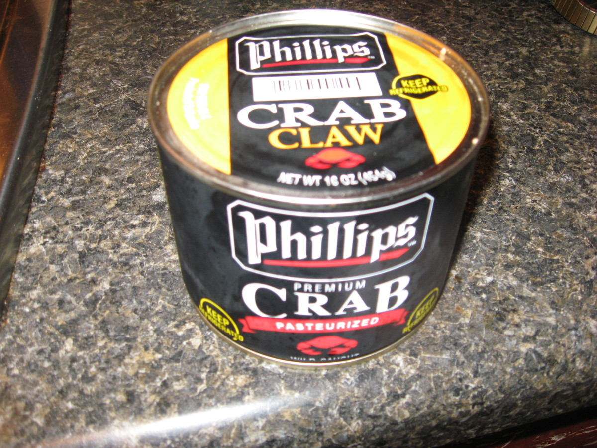 Start with fresh caught, frozen, or refrigerated crabmeat.